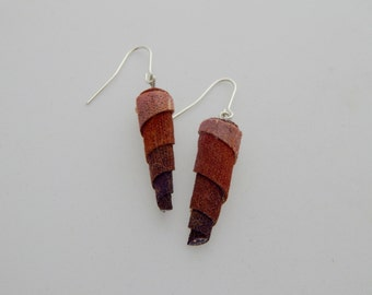 Astilbe Earrings - Handpainted Textile - One of a kind - Featured in Jewelry Affaire Magazine