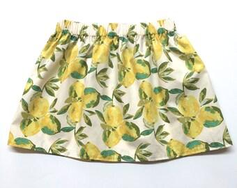 Lemon Skirt, Lemons, Summer Skirt, Lemonade Skirt, Summertime Skirt, Summer, Baby Girls Skirt, Girls Skirt, Baby Skirt, Toddler Skirt, Skirt
