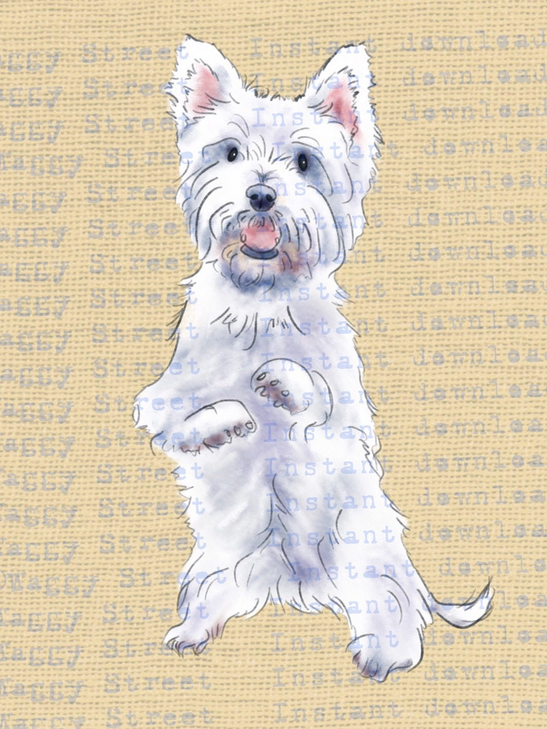 Westie dog clipart watercolor download graphics. Dog ...