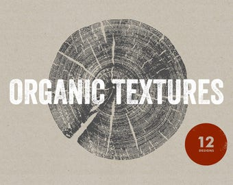 12 Organic Textures - Vector & PNG resources. Digital download. Art, print, t-shirts, merchandise. Wood, tree, trunk, nature, leaf, grain.