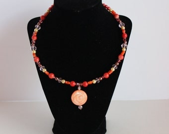 Orange sherbert necklace N20