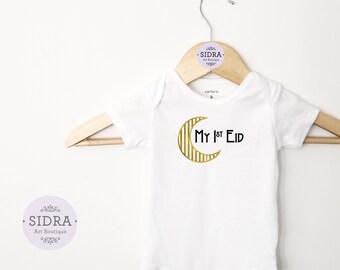 My First Eid Bodysuit, Eid Onesie, Baby Bodysuit, Muslim Baby Bodysuit, Eid Gift, Cute bodysuit, Aqeeqah Gift, Eid Clothes