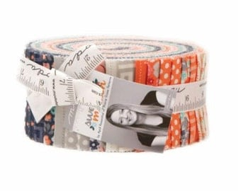 Sweet Marion by April Rosenthal of Prairie Grass Patterns for Moda Fabrics. Jelly Roll 24040JR