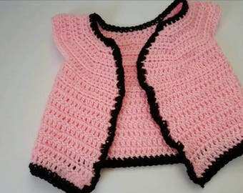 Baby vest /Half sweater  0 Months to 3 Months Baby Girls clothing, Baby Girls Clothes, Sweaters, Sleeveless Cardigan pink, baby shower gift