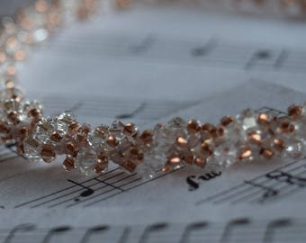 April Swarovski Spiral Birthstone Bracelet (Crystal clear)