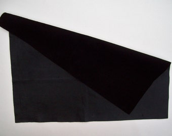 black leather 18x22 big piece