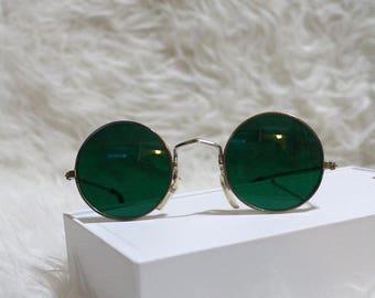 Vintage John Lennon Style Hippie Duckie Dale Non Prescription Sunglasses