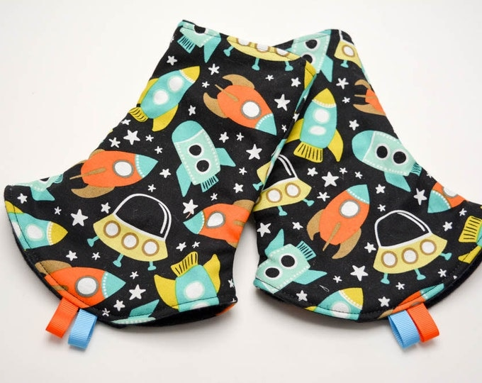 Custom Order for Anne S. - Tula Accessories - Reversible Corner Suck Pads - Rockets