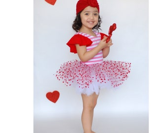 Red Hearts and White Tutu, Hearts Tutu, Valentine's Tutu, Custom tutu, Cake Smash Tutu, First Birthday Tutu, Red and White Baby Tutu