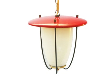 1950s Red Lamp