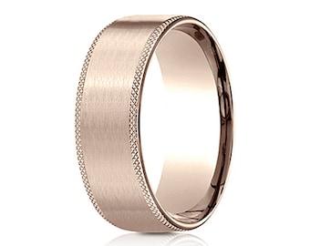 mens rose gold wedding band rose gold wedding band men rose gold band ring