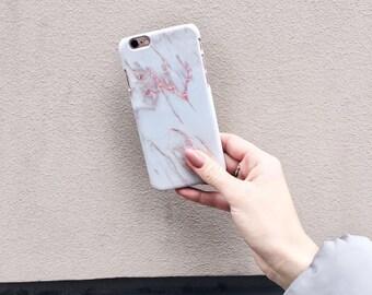 MONTIERI iPhone 6 Plus marble case, iPhone 6s Plus marble case, iPhone pink marble case, iPhone 6 Plus case, iPhone 6s Plus case, iPhone 6s
