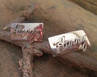 vintage silver tone harry cufflinks