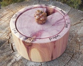 Red Cedar Weekly Pill Minder with Pinon Pine Cone Lid Knob
