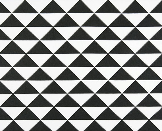 Designer Black White Geometric Fabric Cotton Home Decor Fabric By The Yard Drapery Curtain Or Upholstery Fabric Black White Fabric C225