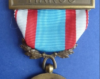 Original French Foreign Legion Campaign Medal. Morocco Campaign Medal of 1954-1964. Superb Condition.