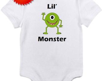 lil monster onesie you pick size newborn / 0-3 / 3-6 / 6-12 / 18 / month