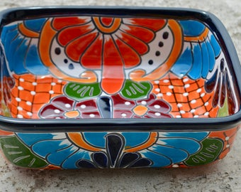 Talavera tray  square & wave