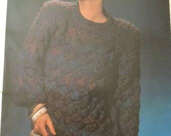 Ladies 1980's jumper knitting pattern
