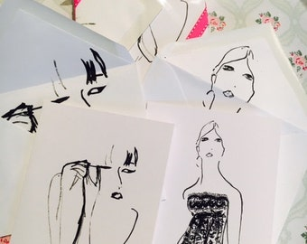 Fashion Girl Note Cards