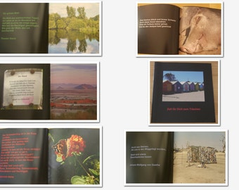 photobook with beautiful pictures and the suitable poems