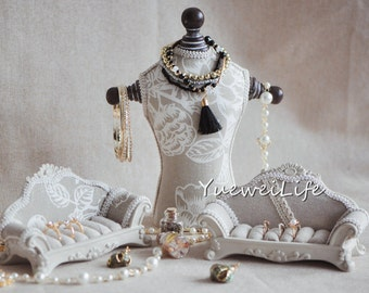 Jewelry Display Mannequin, Jewelry Organizer Stand, Sofa Ring Holder, Home Decor Gift Ideas