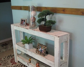 SALE Large Three-Tiered Rustic Console Table