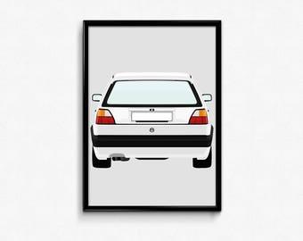 Mk2 Volkswagen Golf GTI A3 Print