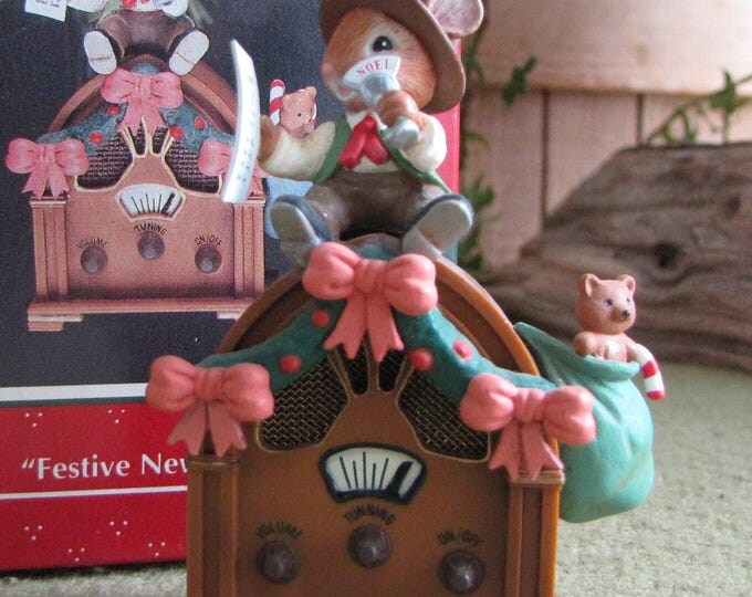 Enesco Ornament Festive News Flash The Treasury of Christmas Ornaments 1992-1993 A Two Year Collectible