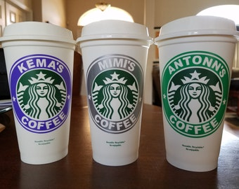 Personalized Starbucks Grande Cups