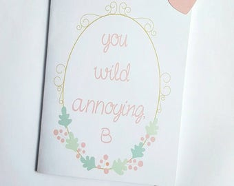 Funny I love you card-New Yorker card- cute love card- funny relationship card-funny bff card