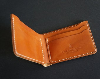 Leather billfold wallet for dollars