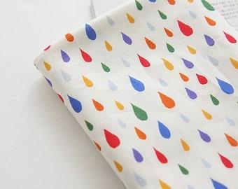 Colorful Raindrop Pattern Digital Printing Cotton Fabric by Yard