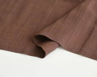 Brown Double Cotton Gauze Fabric by Yard