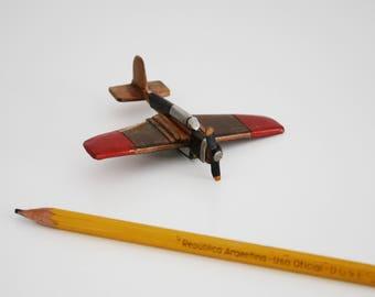 wooden  Antique plane brooch