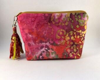 Rosie - Pink Multi Color Cosmetic Bag