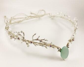 Silver Circlet - Silver Elven Circlet - Wedding Circlet - Forest Crown - Elven Head Piece - twig curclet - Elven Crown