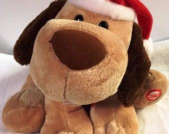 Vintage Animated Singing Christmas Dog Hallmark 1990's Mint