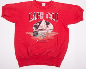 Vintage 80s Cape Cod Short Sleeved Sweatshirt