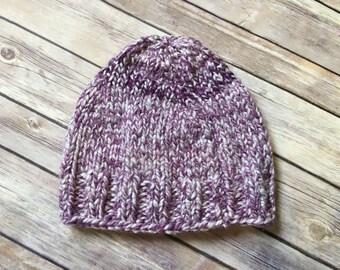 Knit Purple Beanie