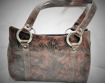 Nine West Faux Tooled Leather Purse