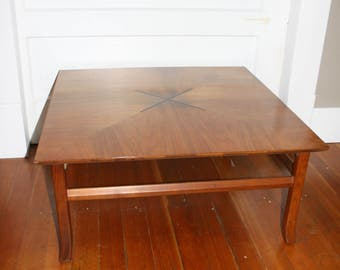Square Maple MCM Coffee Table