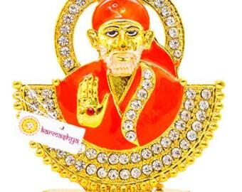Shirdi Sai Bhagvan Statue Baba Saibaba Bhagwan Murthi Moorthi Idol Saayi Shri Om CS0186