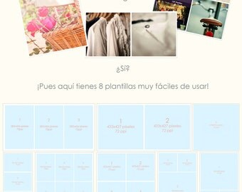 8 Photo templates for your web/blog
