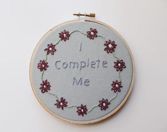 embroidery hoop art. embroidery. hand embroidered. embroidery wall art. self love. feminist gift. feminist. feminism. feminist art. wall art
