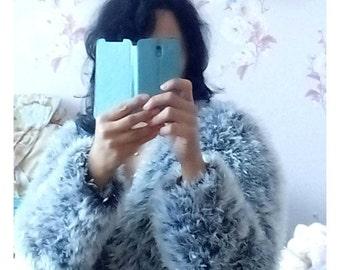 Knitted cardigan,Knitted fur coat,Short coat, Hand knit cardigan,Chunky knit cardigan,Knit coat,women's cardigans,oversized cardigan