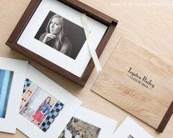"""8x10"""" Box with Slip-In Mats (Engraving Available)"""