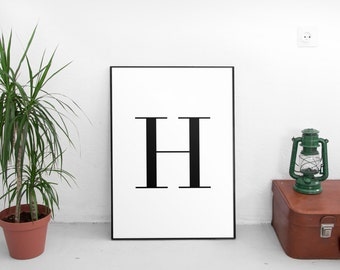 Letter H Wall Decor h letter | etsy