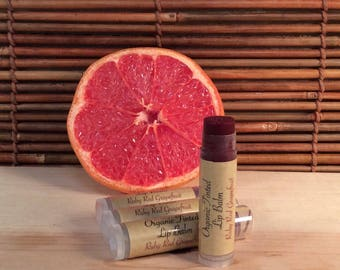Tinted Ruby Red Grapefruit Lip Balm - Organic Tinted Lip Balm