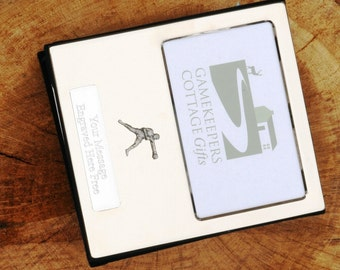Boxing Boxer Design Silver Personalised Photo Album FREE ENGRAVING pewter emblem holds 100 6x4 photos